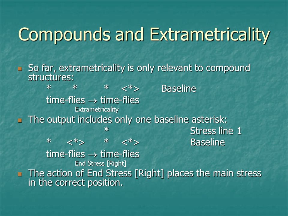 Compounds and Extrametricality