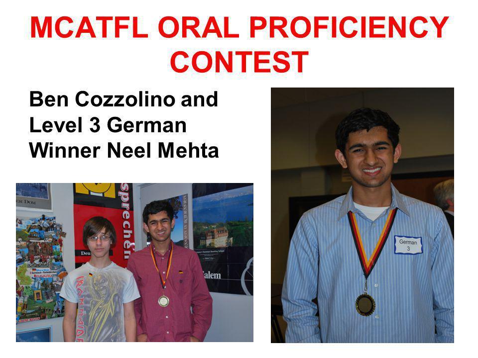 MCATFL ORAL PROFICIENCY CONTEST