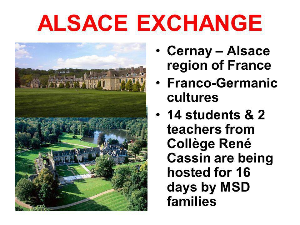 ALSACE EXCHANGE Cernay – Alsace region of France