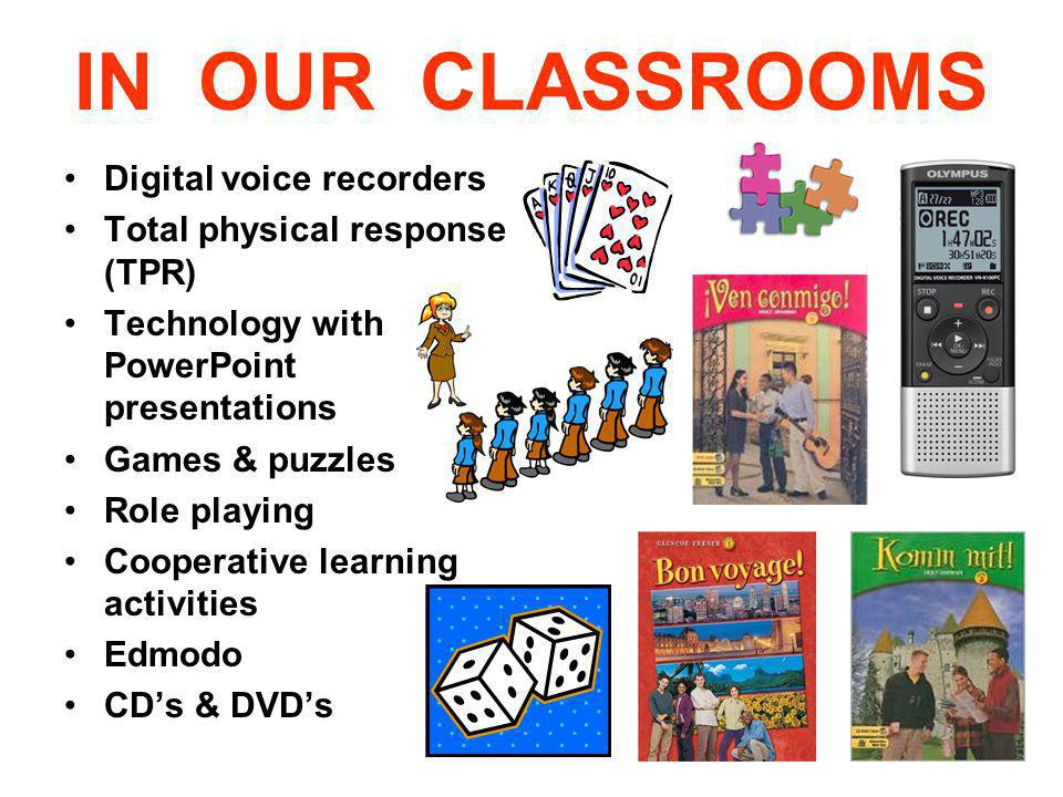 IN OUR CLASSROOMS Digital voice recorders