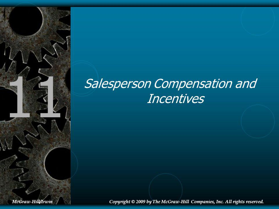 Salesperson Compensation and Incentives