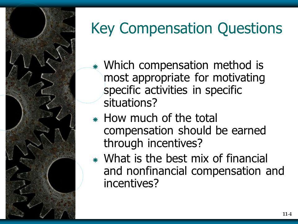 Key Compensation Questions