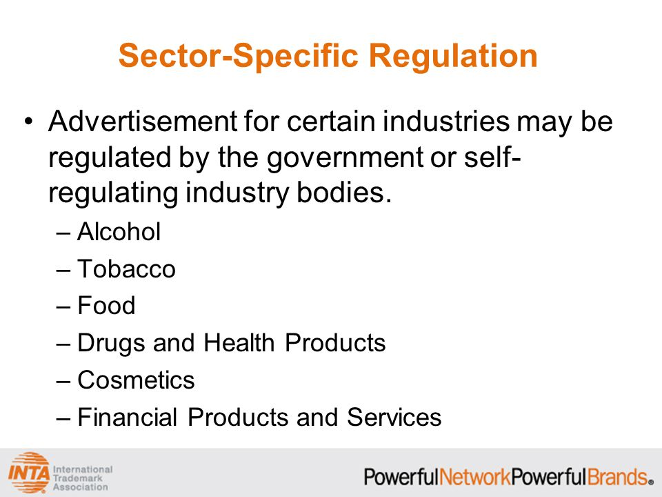 Sector-Specific Regulation