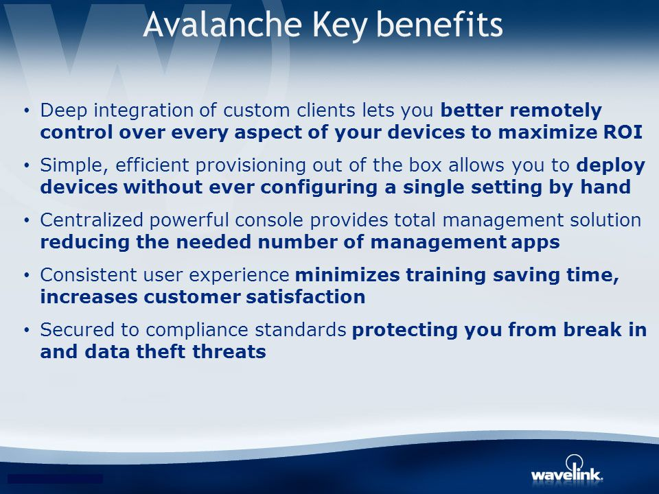 Avalanche Key benefits