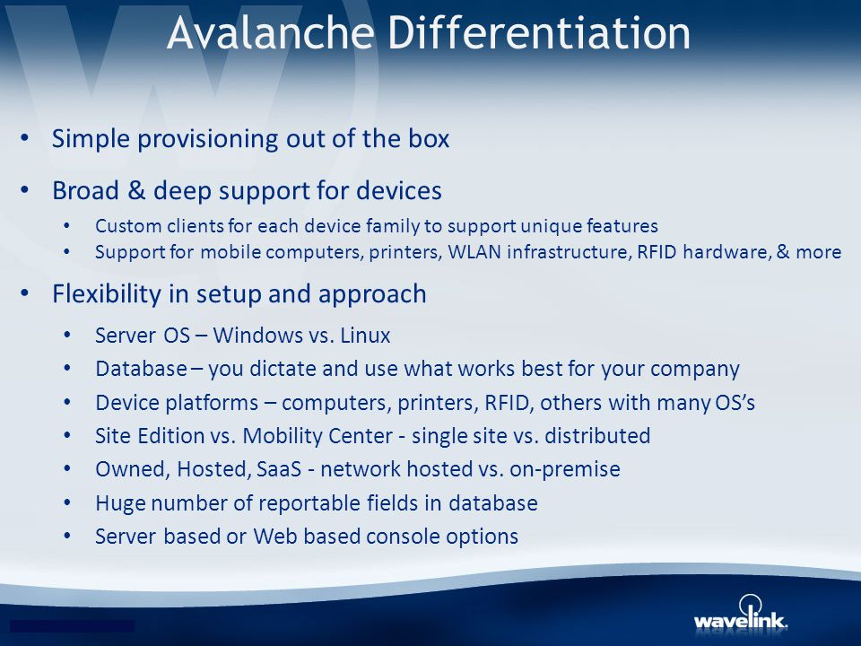 Avalanche Differentiation