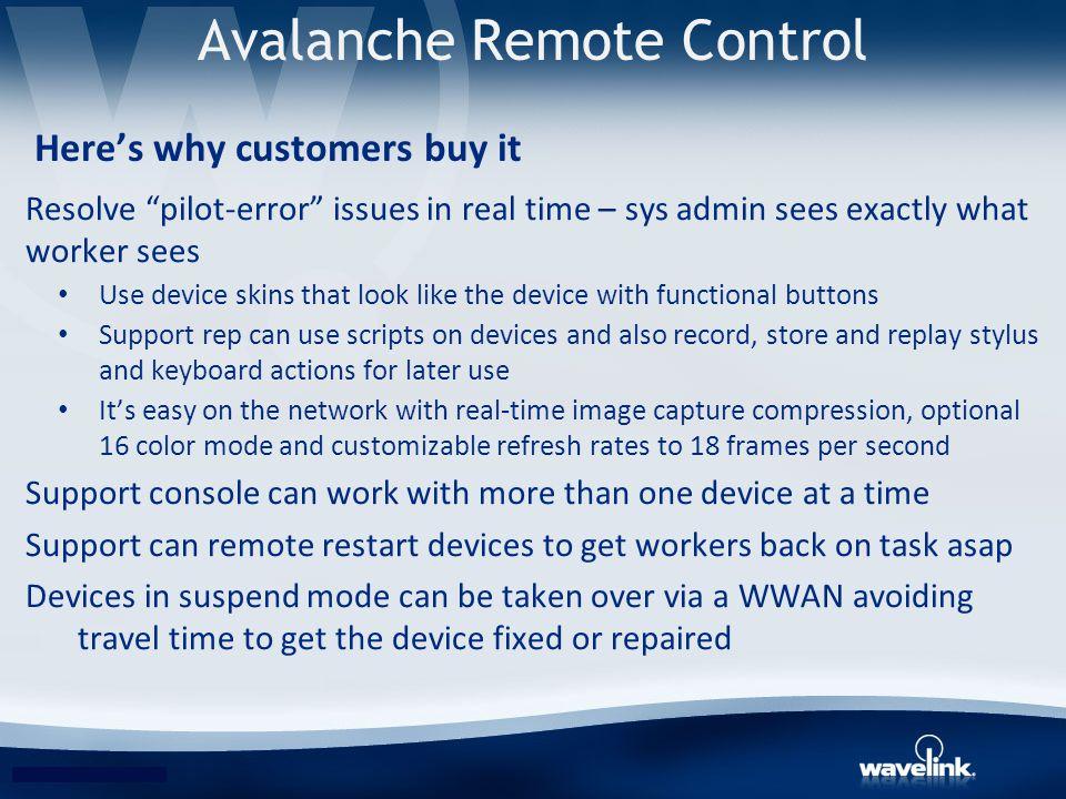 Avalanche Remote Control