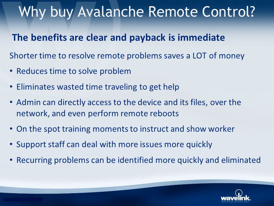 Why buy Avalanche Remote Control