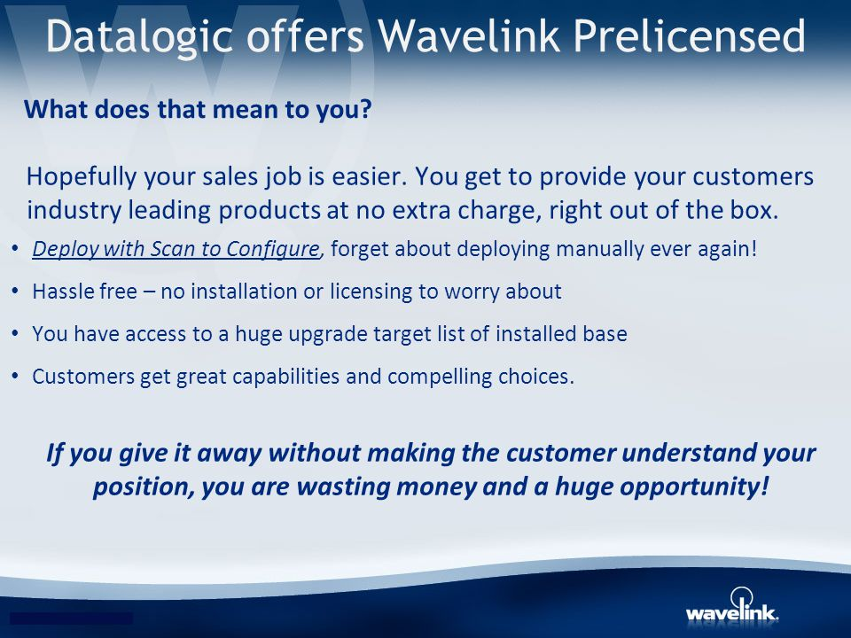 Datalogic offers Wavelink Prelicensed