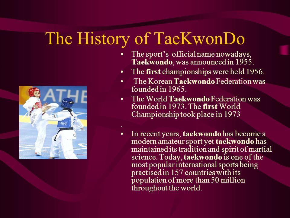 The History of TaeKwonDo