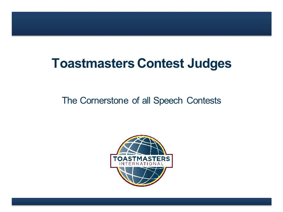 Toastmasters Contest Judges
