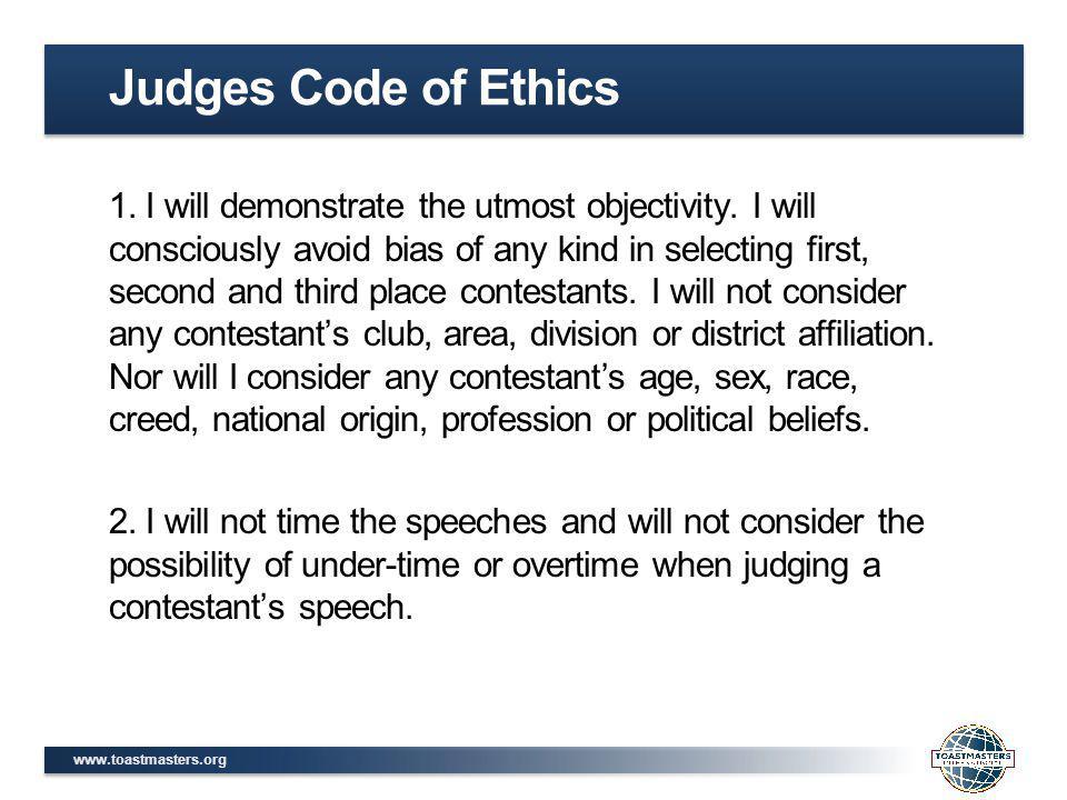 Judges Code of Ethics