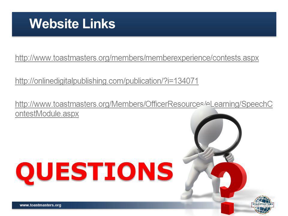 QUESTIONS Website Links