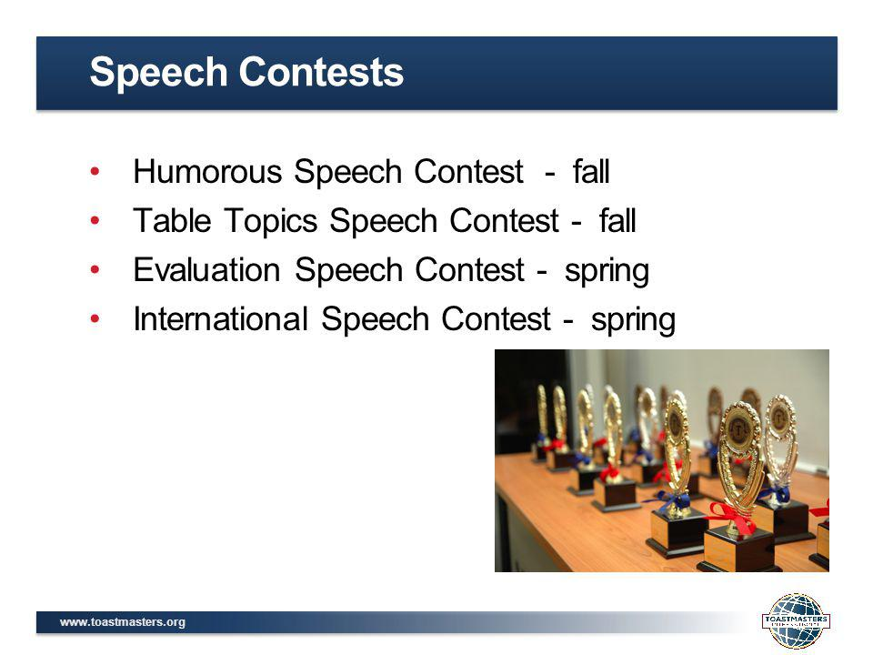 Speech Contests Humorous Speech Contest - fall
