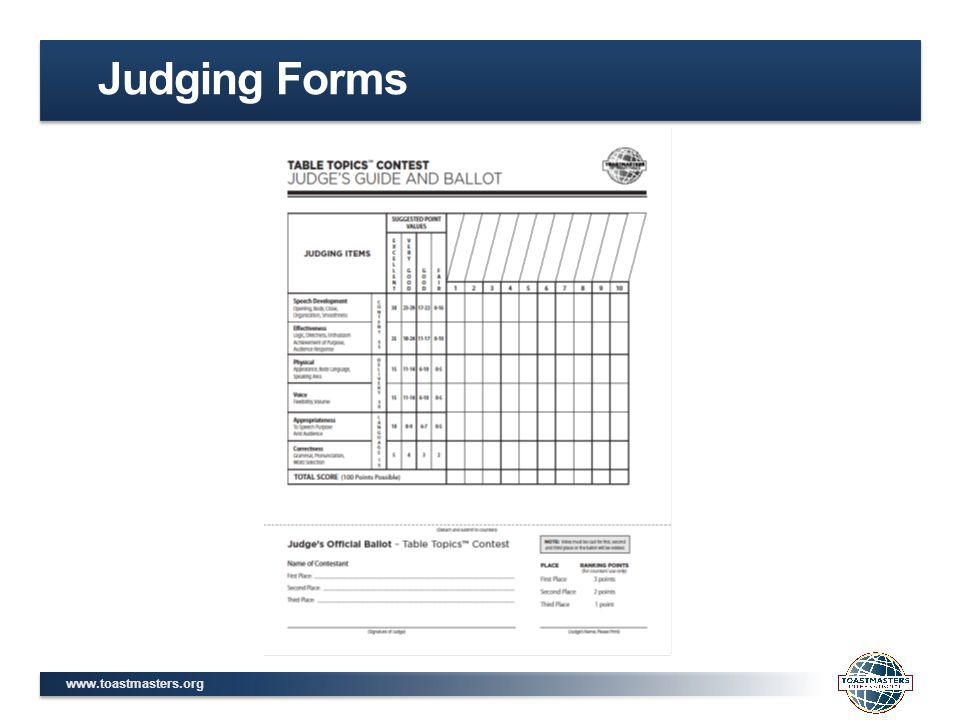 Judging Forms