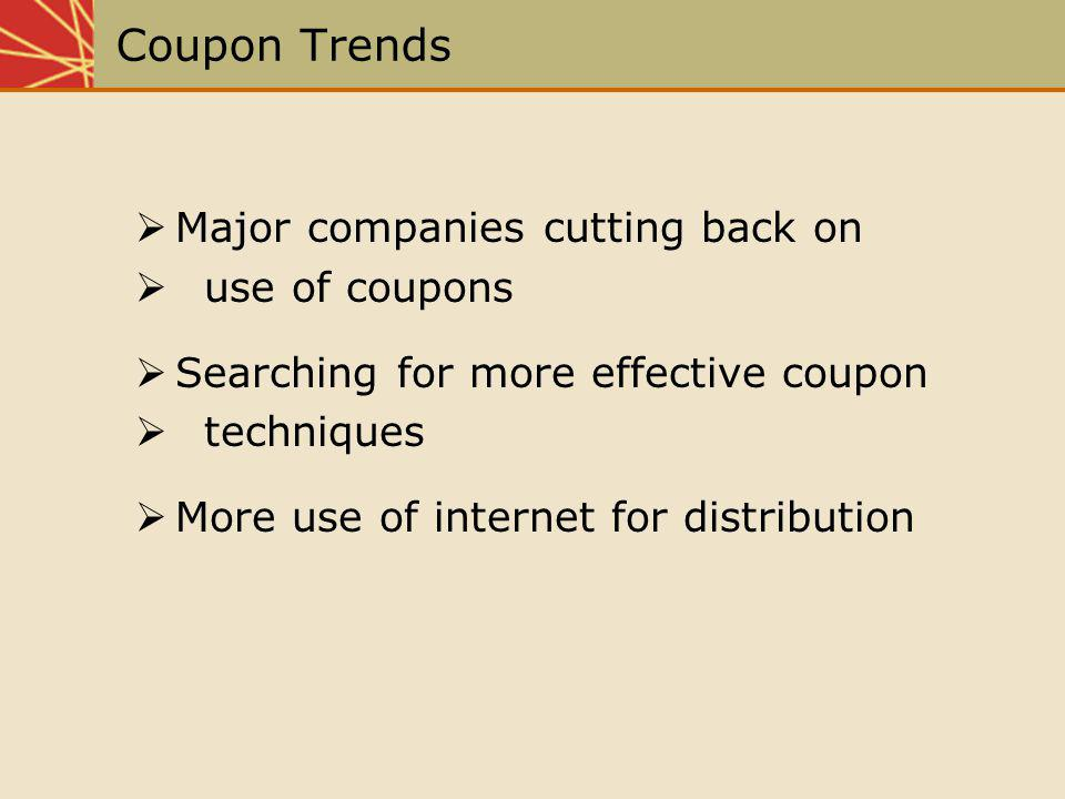 Coupon Trends Major companies cutting back on use of coupons