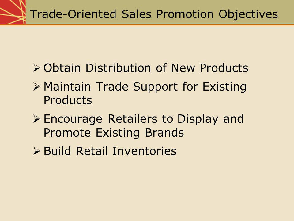 Trade-Oriented Sales Promotion Objectives