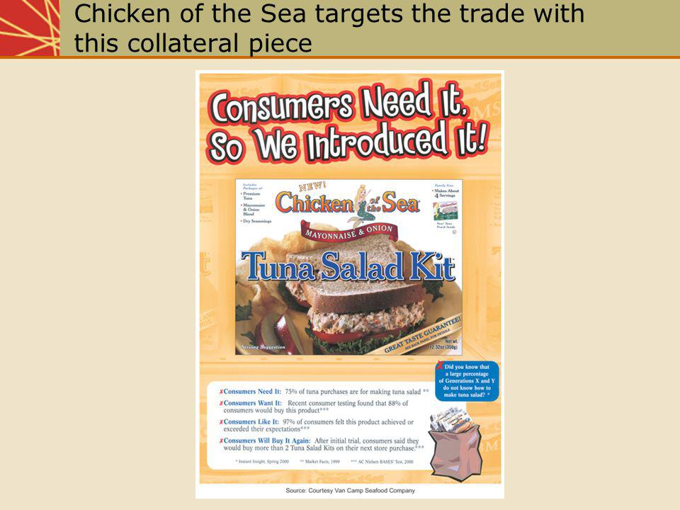 Chicken of the Sea targets the trade with this collateral piece