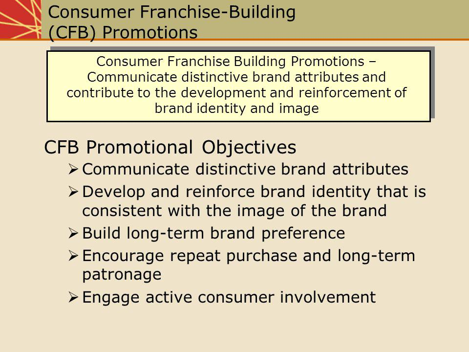 Consumer Franchise-Building (CFB) Promotions