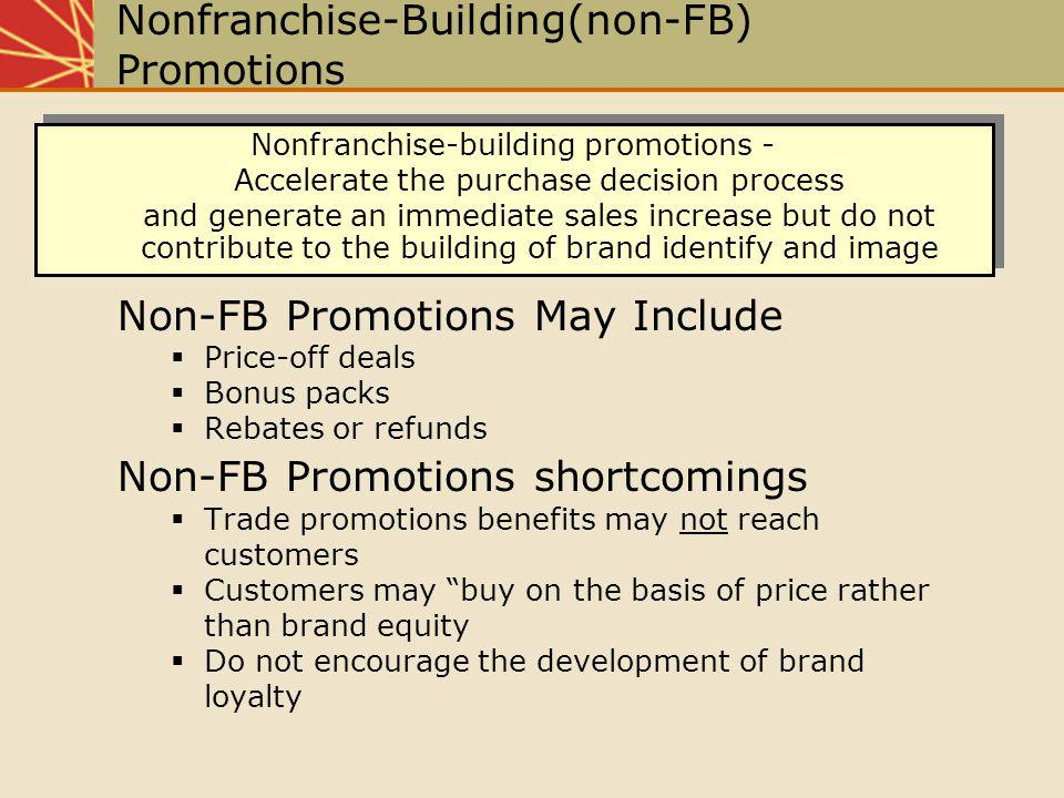 Nonfranchise-Building(non-FB) Promotions