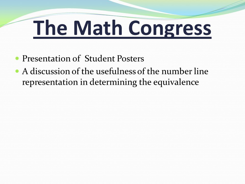 The Math Congress Presentation of Student Posters