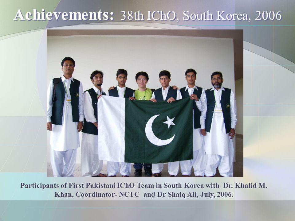Achievements: 38th IChO, South Korea, 2006