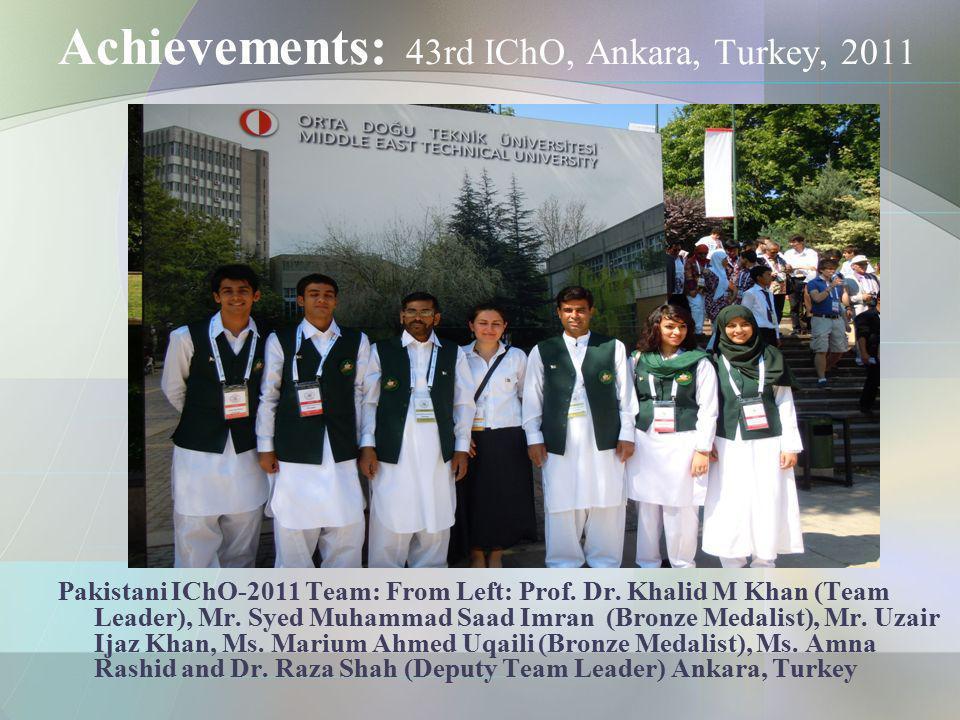 Achievements: 43rd IChO, Ankara, Turkey, 2011