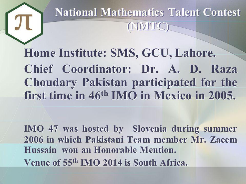 National Mathematics Talent Contest (NMTC)