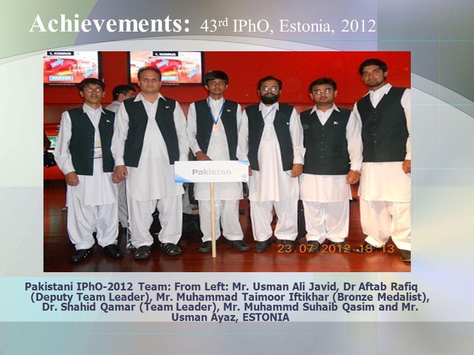 Achievements: 43rd IPhO, Estonia, 2012
