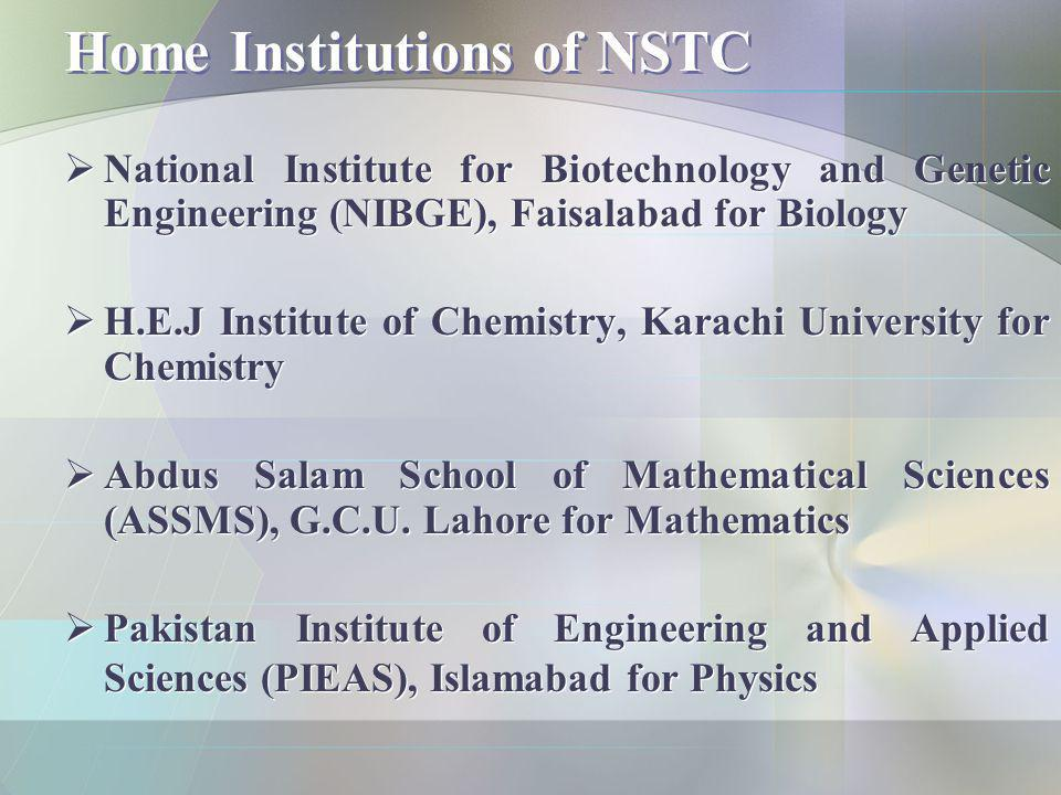 Home Institutions of NSTC