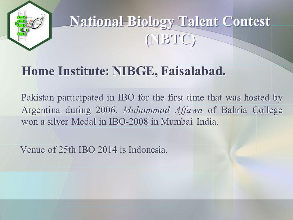 National Biology Talent Contest (NBTC)