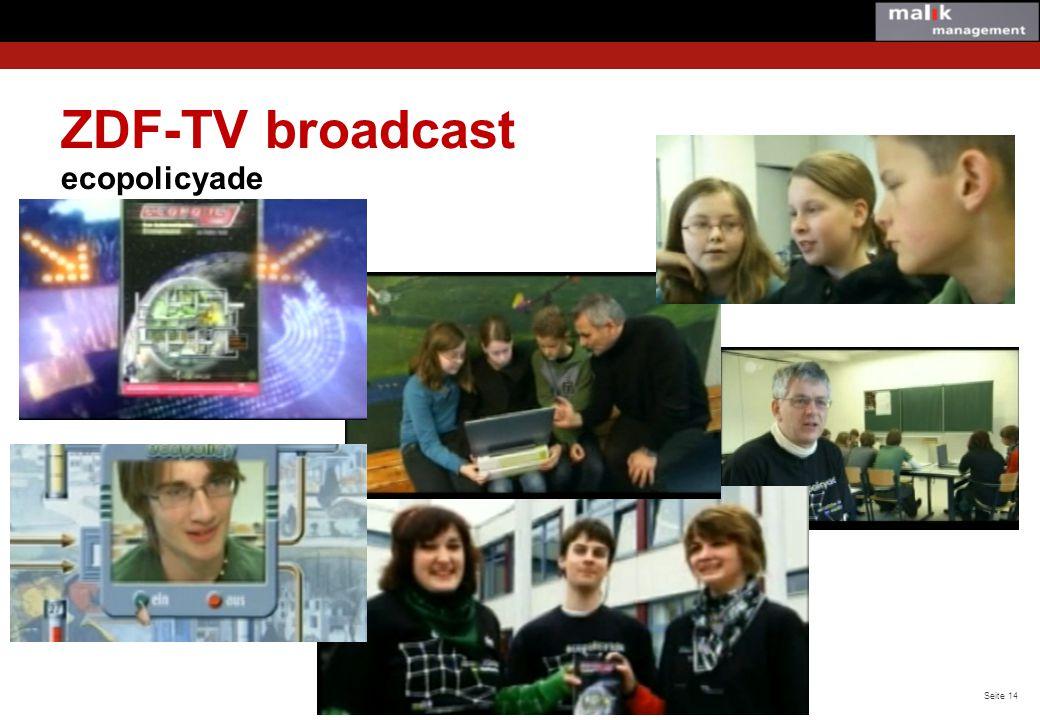 ZDF-TV broadcast ecopolicyade