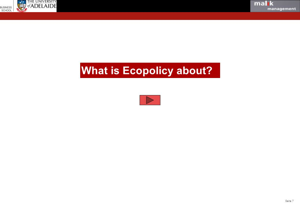 What is Ecopolicy about