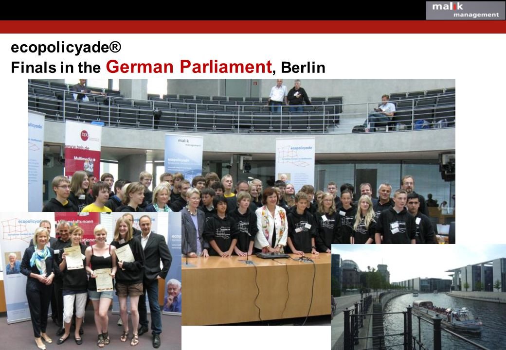 ecopolicyade® Finals in the German Parliament, Berlin