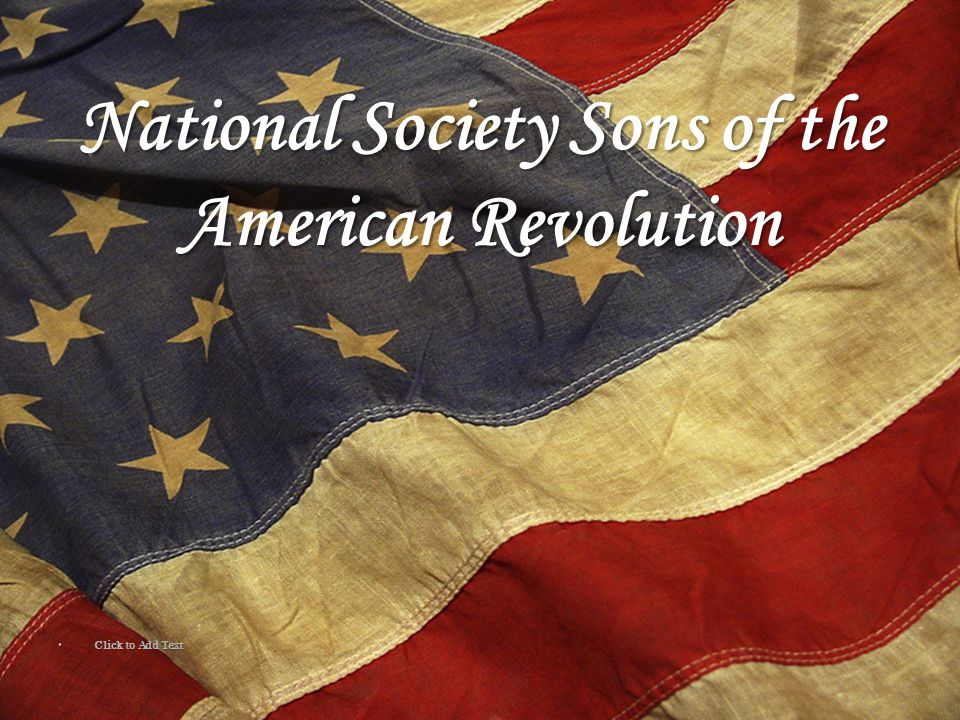 National Society Sons of the American Revolution