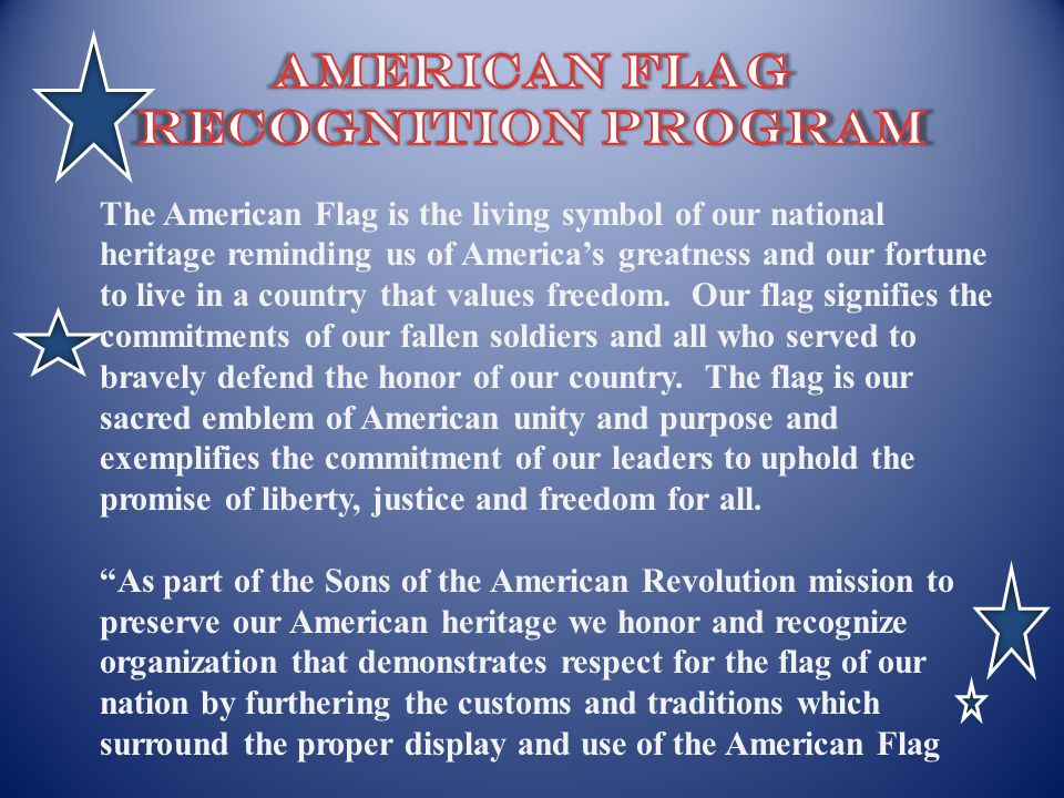 American Flag recognition Program