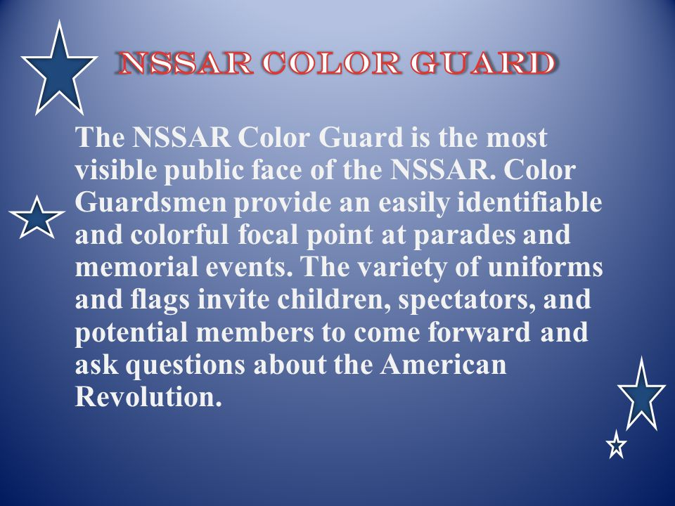 NSSAR Color Guard