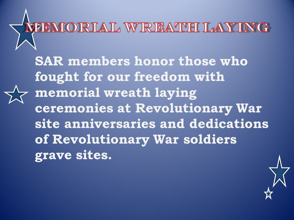 Memorial wreath laying