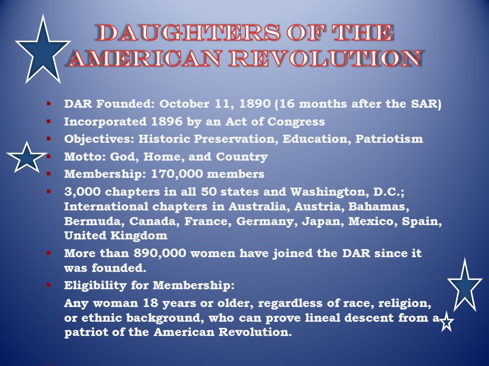 daughters of the american revolution scholarship essay contest Enter the daughters of the american revolution (dar) american history essay contest celebrating a century of america's national parks due december 15, 2016.
