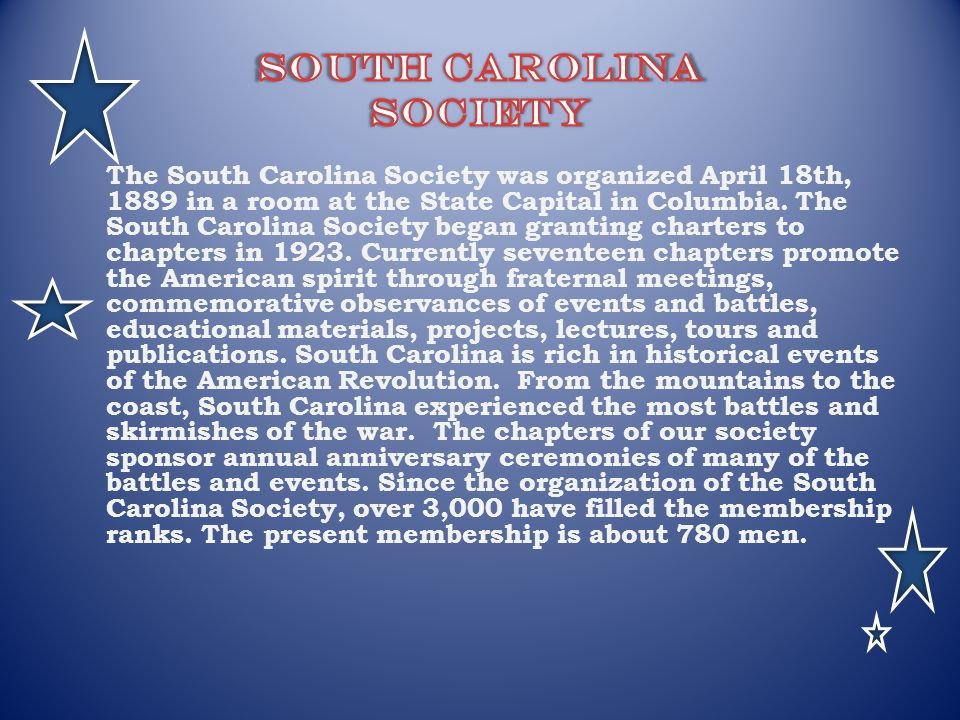 South Carolina Society