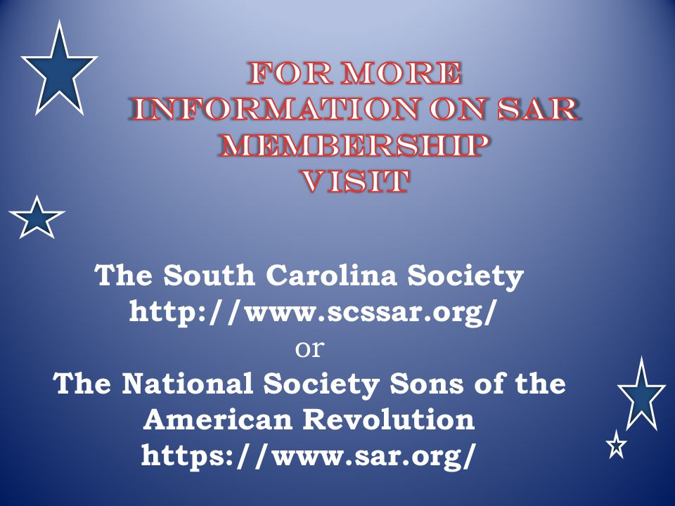 For More Information On SAR membership Visit
