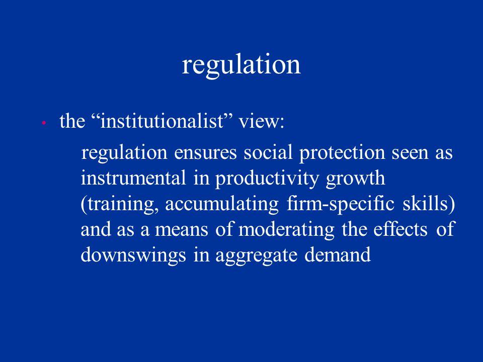 regulation the institutionalist view:
