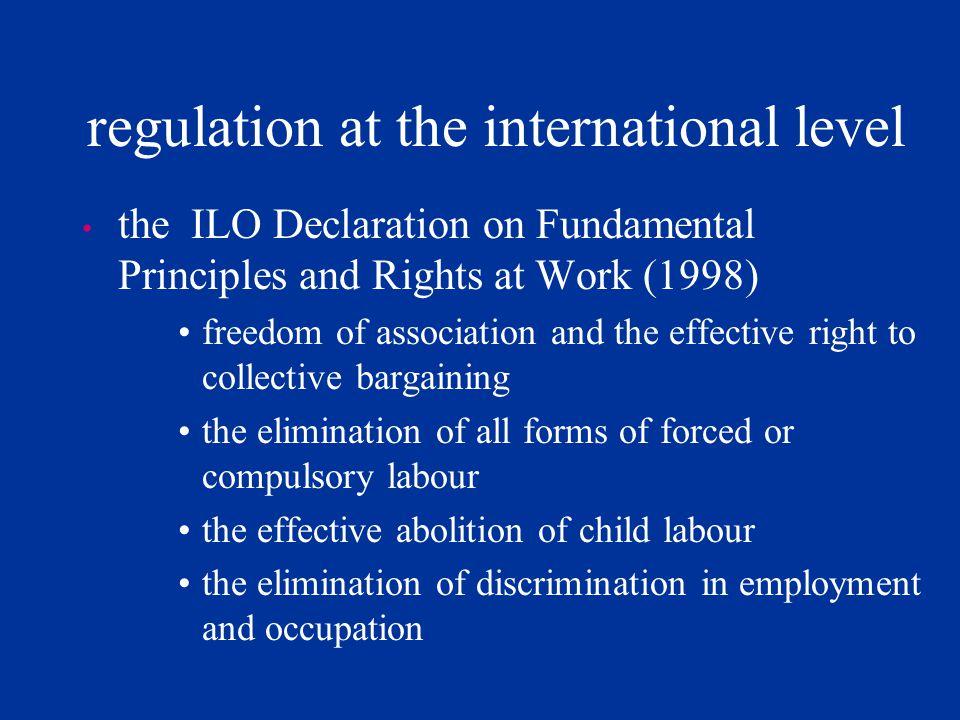 regulation at the international level
