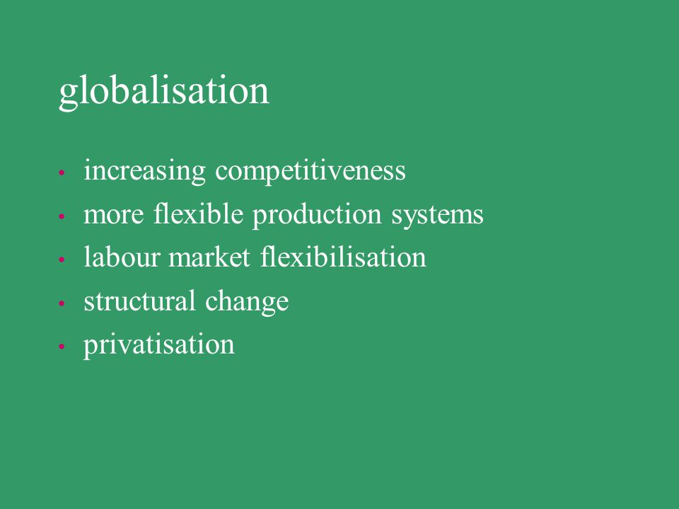 globalisation increasing competitiveness