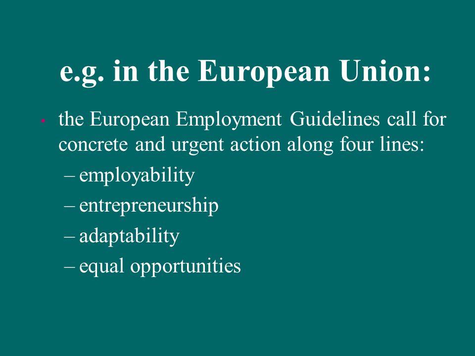 e.g. in the European Union: