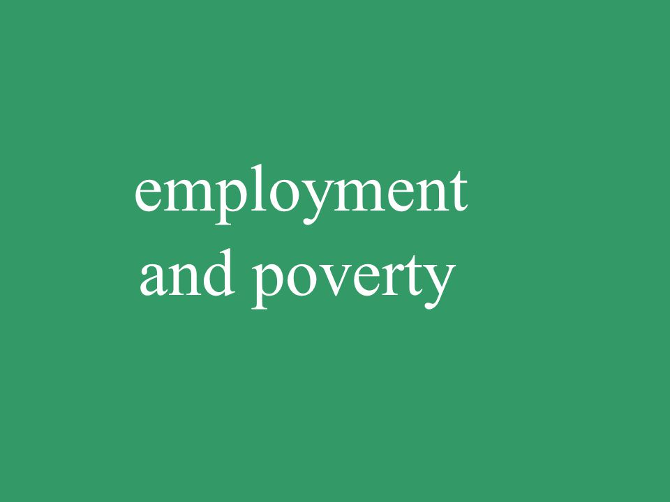employment and poverty