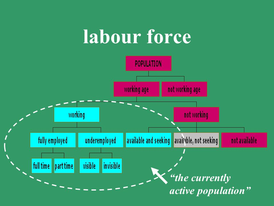 labour force the currently active population Check ILO definition