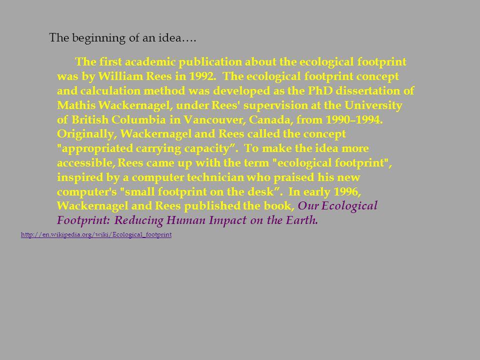 ecological footprint 2 essay