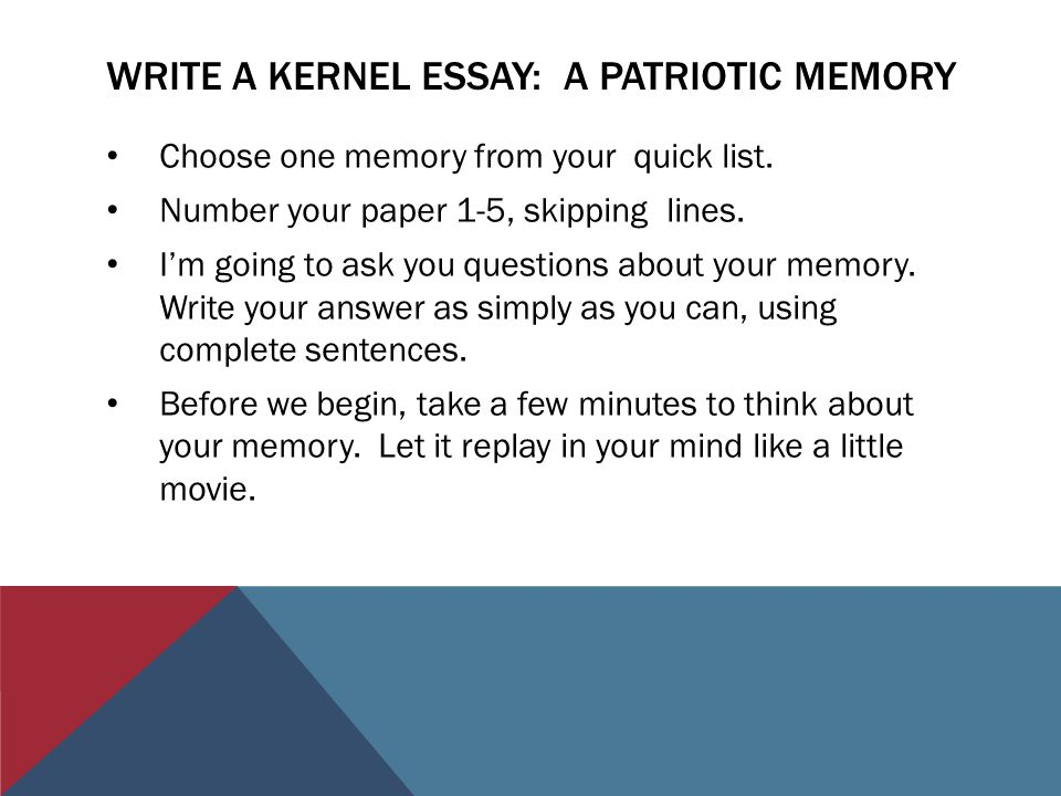 veterans of foreign wars and northwood th grade ppt video  write a kernel essay a patriotic memory