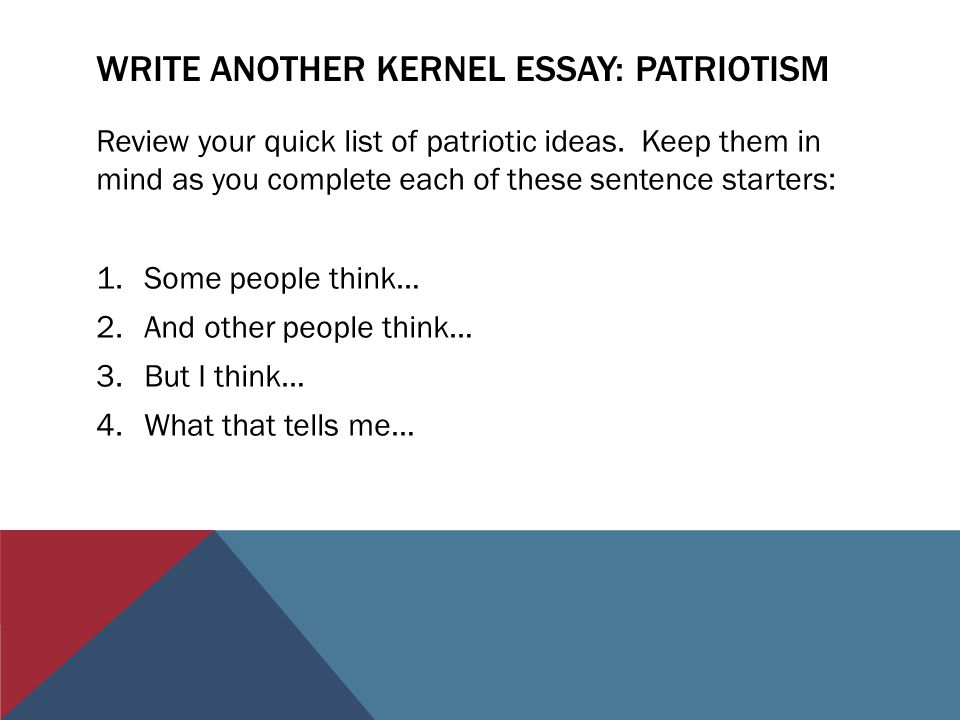 Essay about patriotism what it means to me