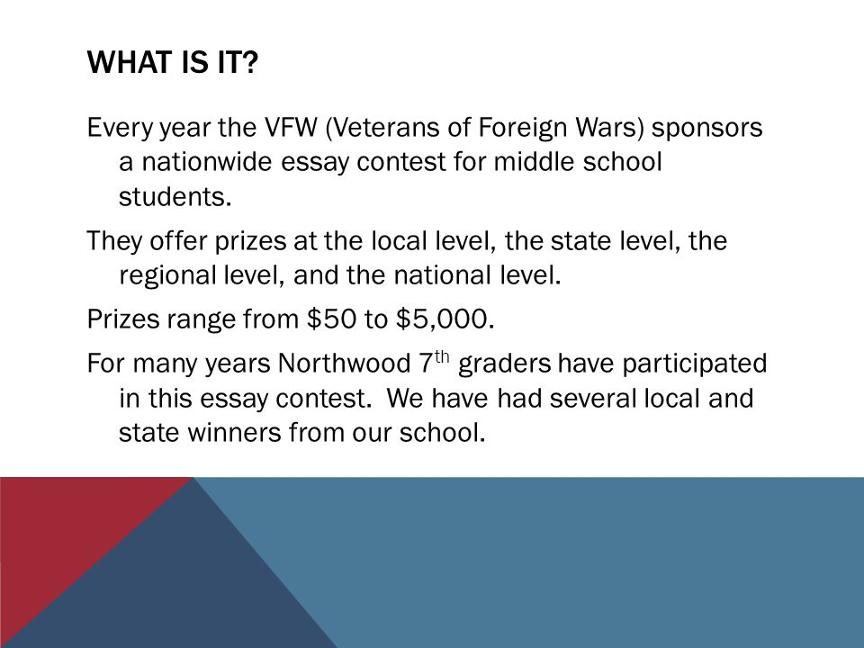 veterans of foreign wars and northwood th grade ppt 2 what